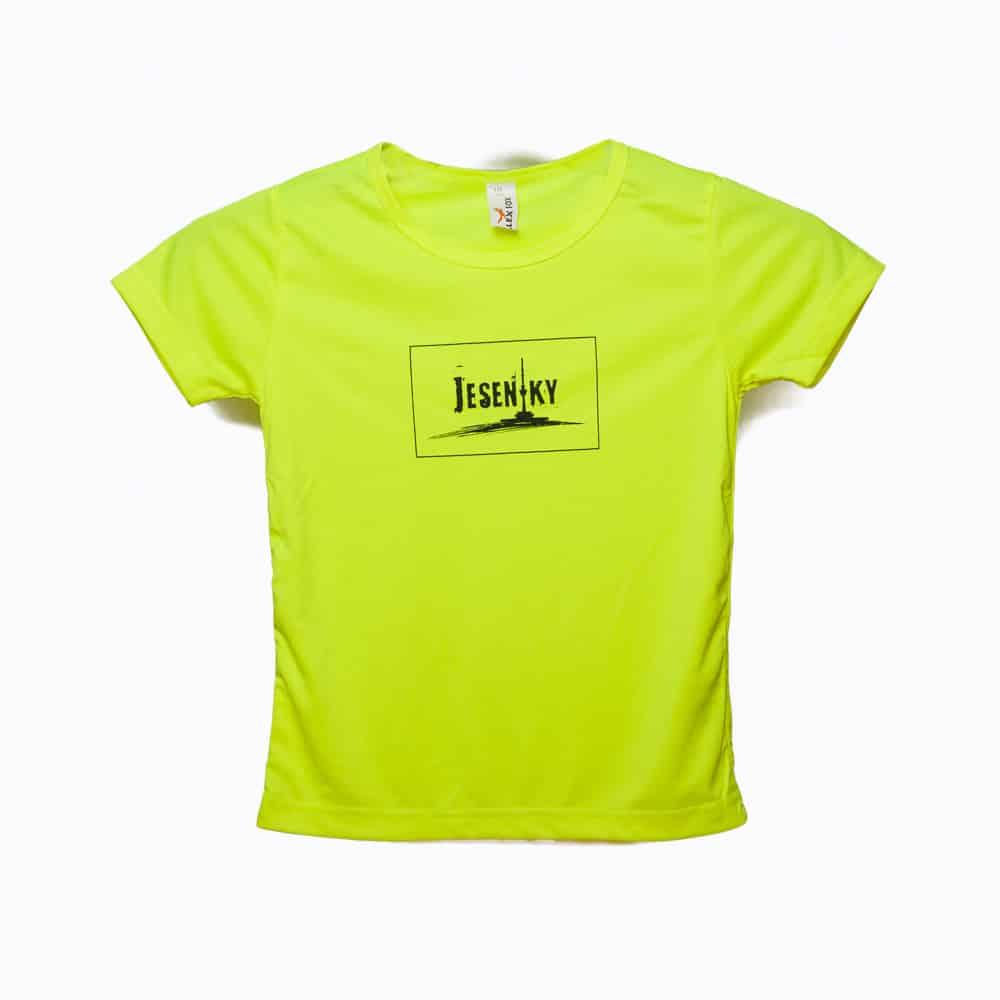 Dětské triko Jeseníky zelené