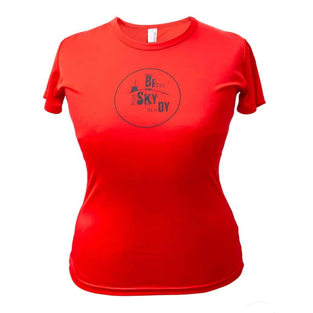 Dámské funkční triko červené beskydy
